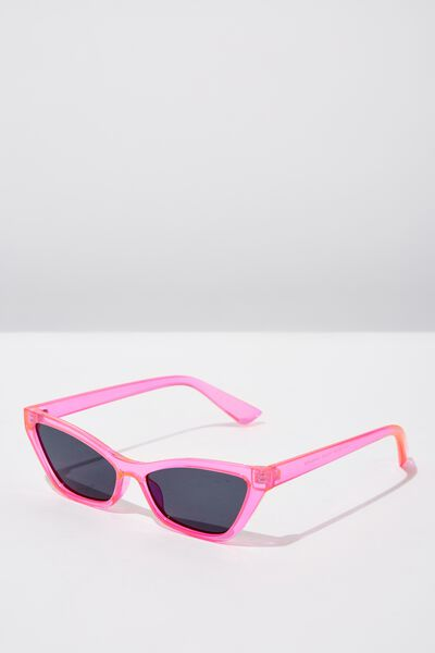 Lily Short Frame Sunglass, NEON PINK