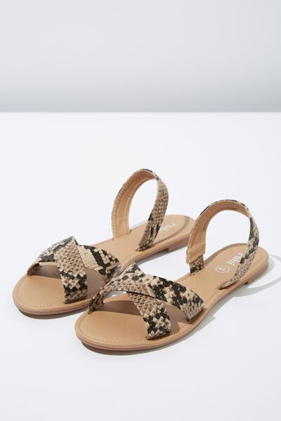 Everyday Banting Crossover Sandal, NEUTRAL SNAKE