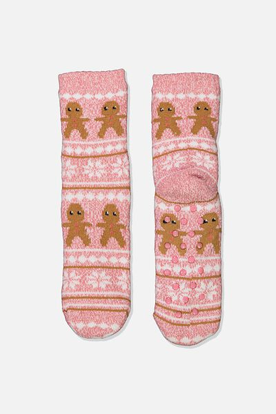 Coc Loungin Round Sock, GINGERBREAD