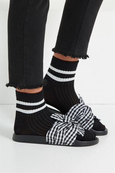Marley Sporty Sock, BLACK