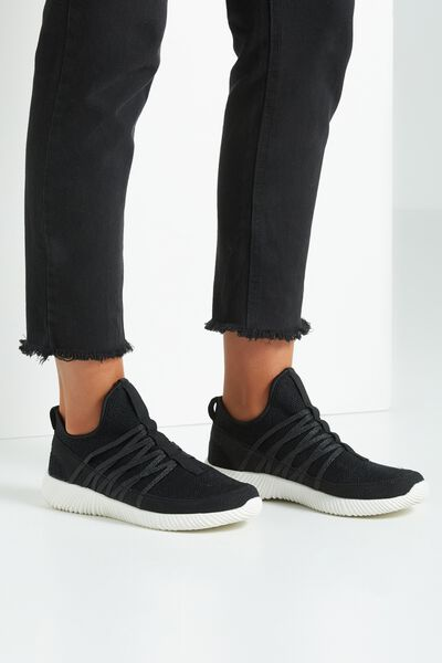 Faith Sock Trainer, BLACK