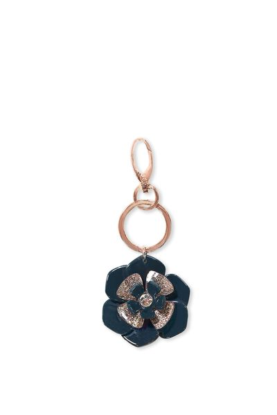 Flower Bag Charm, JUNGLE GREEN