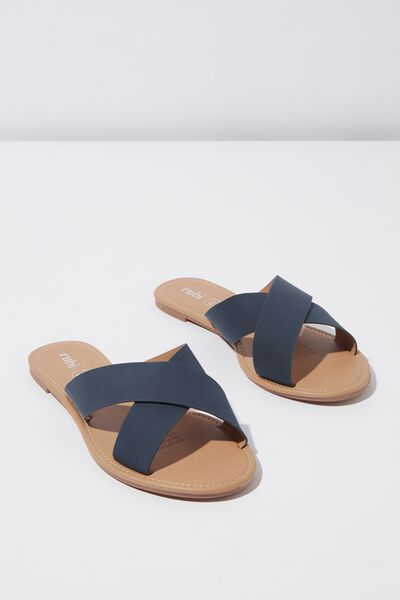 Everyday Scarlett Xover Slide, NAVY NUBUCK