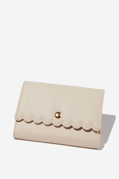 Scalloped Edge Wallet, STONE