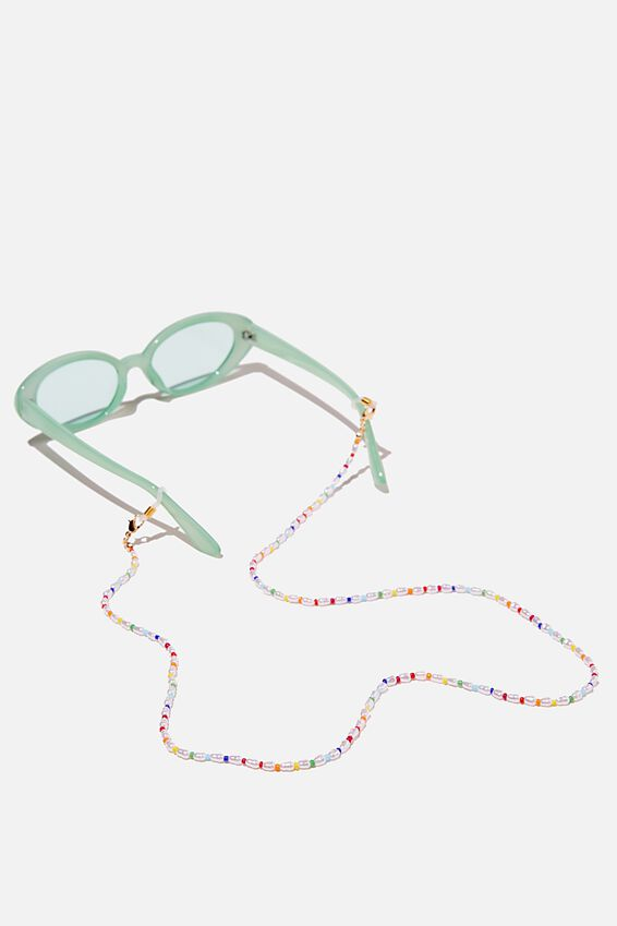 Ava Glasses Chain, PEARL RAINBOW