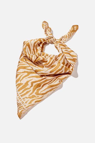 Airlie Large Headscarf, ELLA ZEBRA SANDSTORM