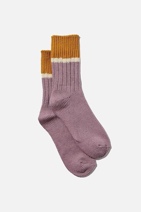 Weekend Sock, LILAC