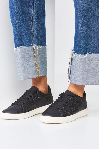 Cathryn Sneaker, BLACK LAZER