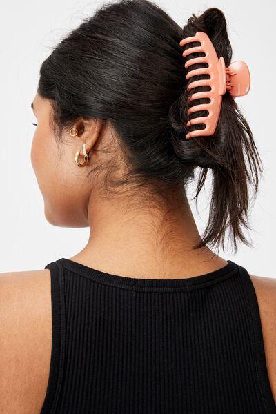 Rachel Hair Claw, CORAL
