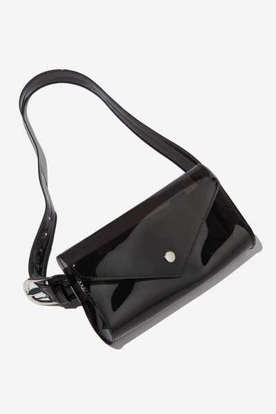 Transparent Belt Bag, BLACK