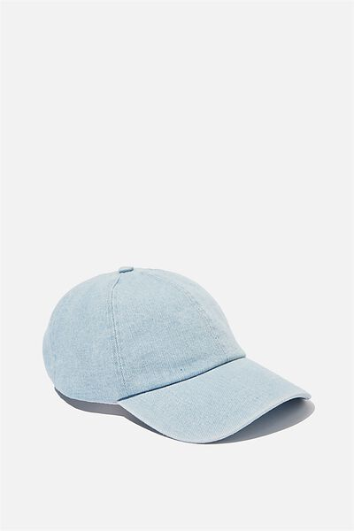 Kaia Cap, DENIM/CREAM TOP STITCH