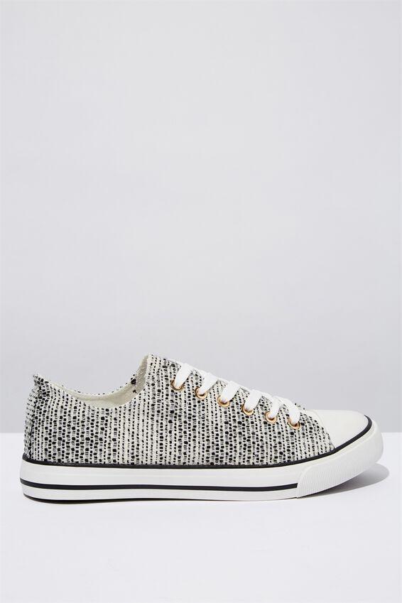 Jodi Low Rise Sneaker 1, MONO METALLIC TEXTURE