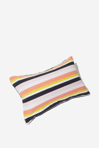 Waikiki Inflatable Pillow, CORAL SUMMER STRIPE