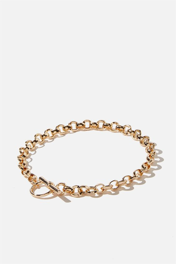 Luxe Layers Fine Circle Chain Necklace, GOLD