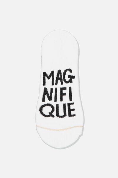 Sneaker Low Cut Sock, WHITE/MAGNIFIQUE