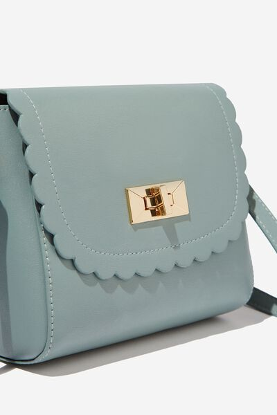 The Scalloped Edge Cross Body Bag, MERMAID