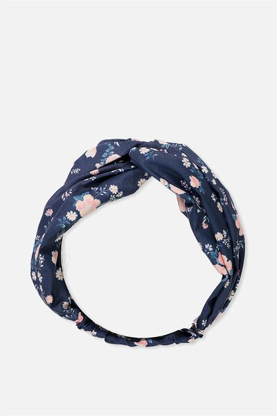 Manhattan Headband, NAVY FLORAL