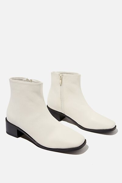 Downtown Ankle Boot, WHITE