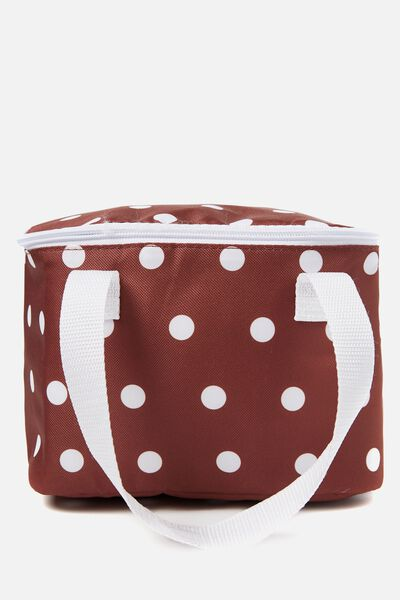 Chill Out Cool Bag, RUST POLKA DOT