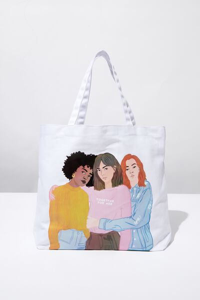 Minimalist Washed Tote, GIRL UP TOGETHER FOR HER GROUP
