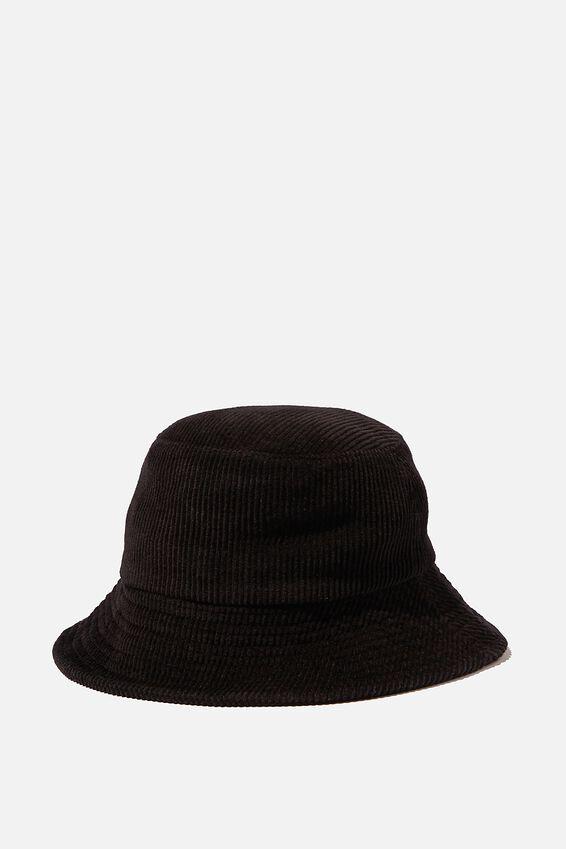 Bianca Bucket Hat, BLACK CORD