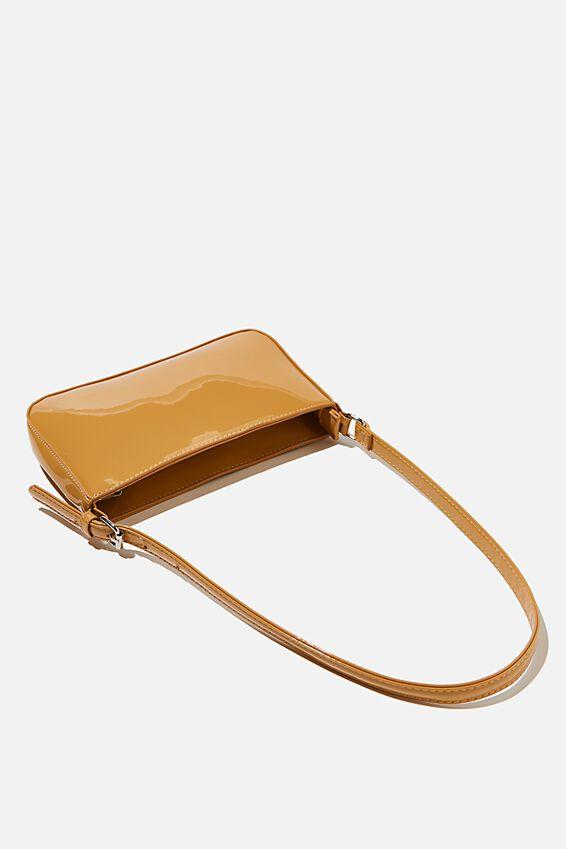 Lexi Underarm Bag, TAUPE PATENT