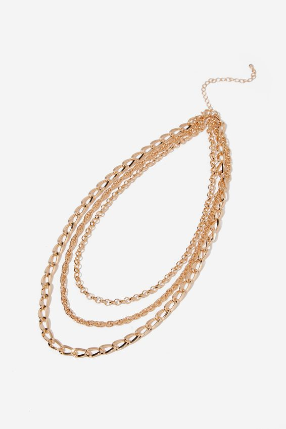 Everywhere Classic Necklace, GOLD