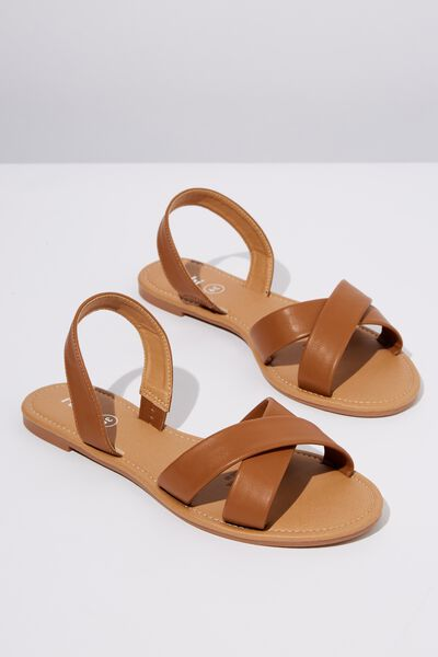 Everyday Banting Crossover Sandal, TAN PU
