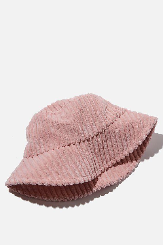 Bianca Bucket Hat, PETAL PINK WIDE CORD