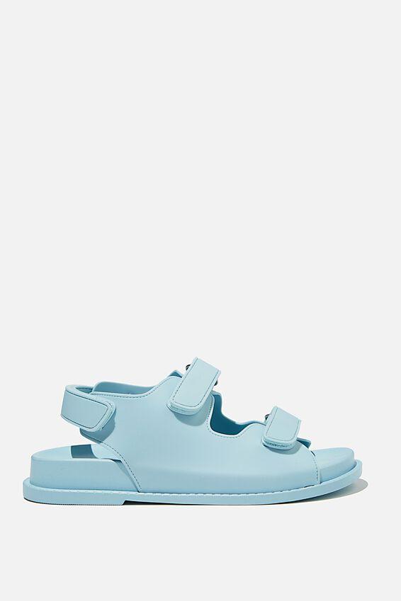 Mimi Moulded Sporty Sandal, DAISY BLUE