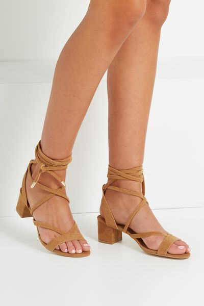 Lo Se Lace Up Heel, CAMEL