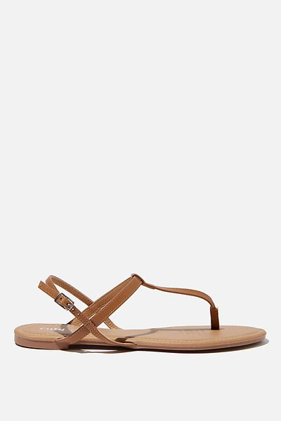 Everyday Toe Post Sandal, TAN PU