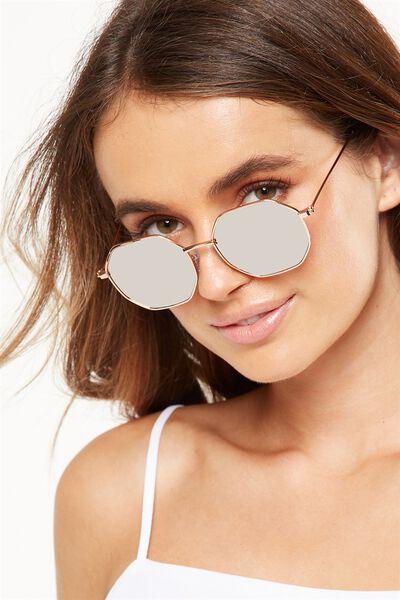 Luca Cateye Sunglasses, ROSE GOLD/ROSE GOLD