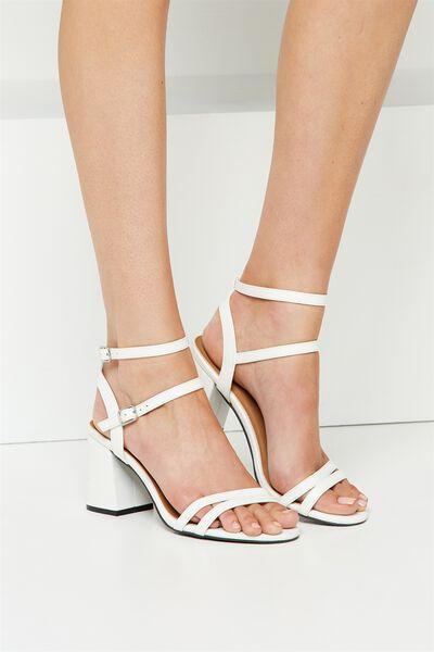 Masque Flared Heel, WHITE