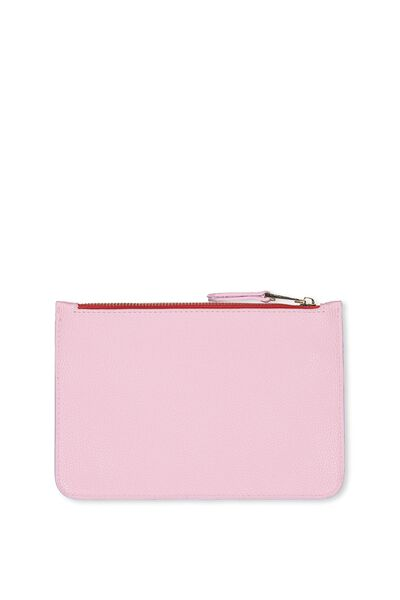 Queens Clutch Purse, BABY PINK/RED