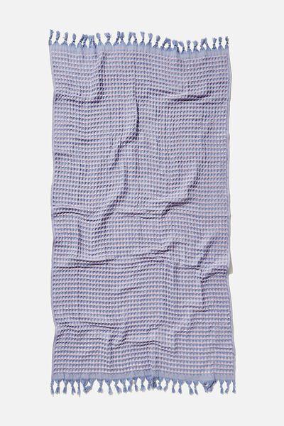 Wategos Waffle Towel, LILAC BLUE WAFFLE