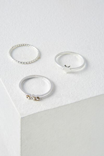 Havana Ring Set, SILVER