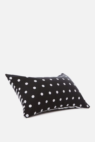Waikiki Inflatable Pillow, BLACK POLKA DOT