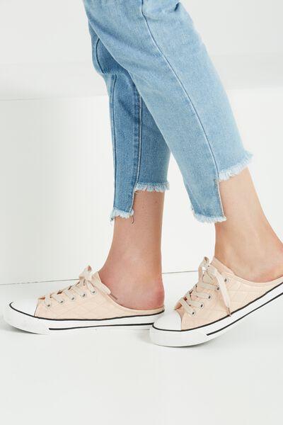 Juliet Mule Sneaker, NUDE SHEEN