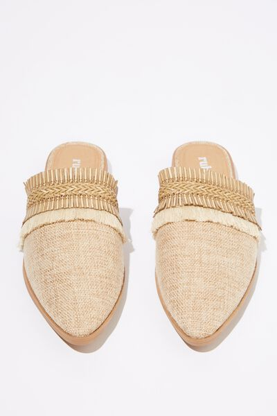 Fatima Textured Mule, TAN NEUTRAL