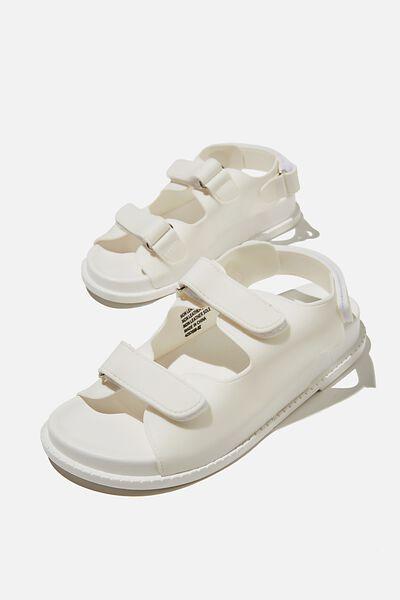 Mimi Moulded Sporty Sandal, WHITE