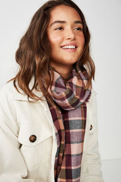 Lexi Mid Weight Check Scarf, DECO ROSE BEC CHECK