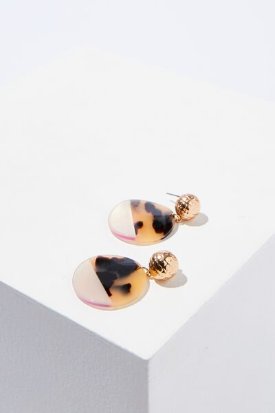 Caitlyn Animal Earring, GOLD/MULTI DARK
