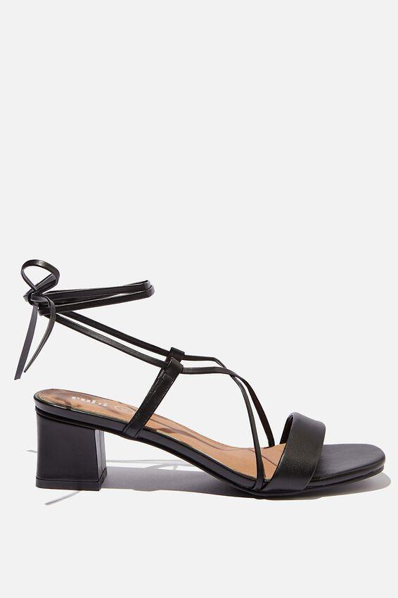 Eva Strappy Heel, BLACK