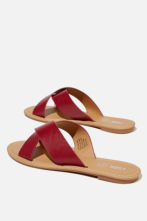 Everyday Scarlett Xover Slide, DEEP RED PU