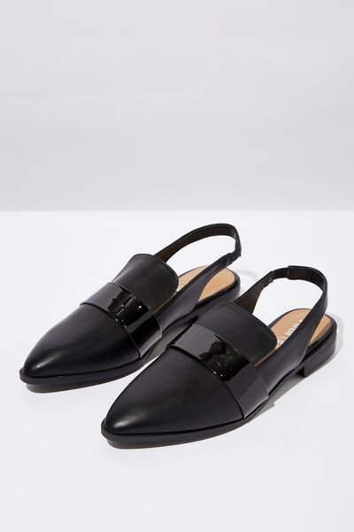 Sabrina Slingback Loafer, BLACK
