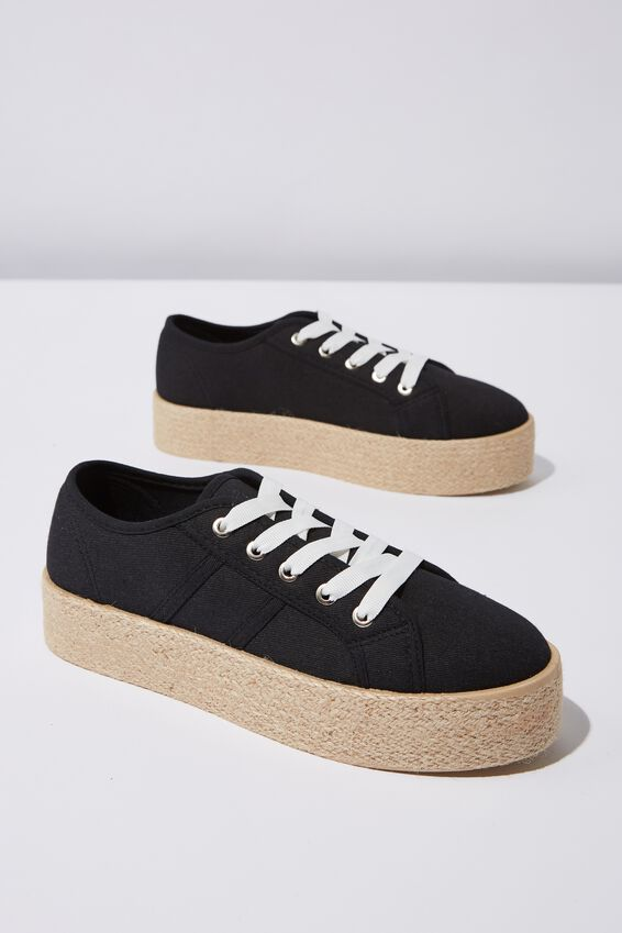Willow Espadrille Sneaker, BLACK TWILL
