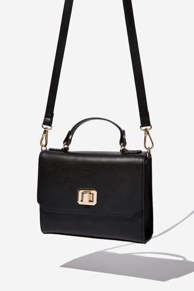 Sophie Lady Like Boxy Handbag, BLACK