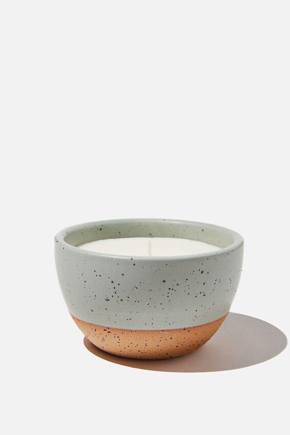 Stoneware Candle, MINT