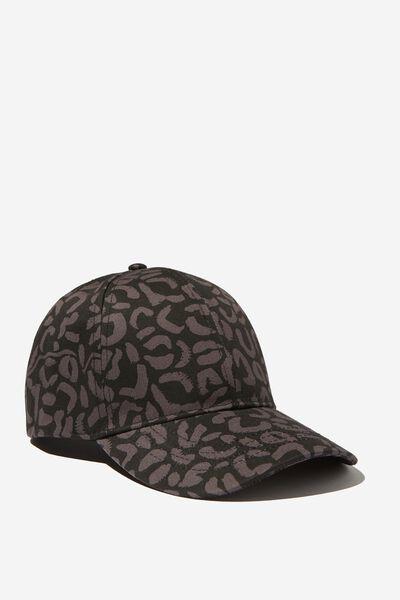 Molly Active Cap, BLACK LEOPARD